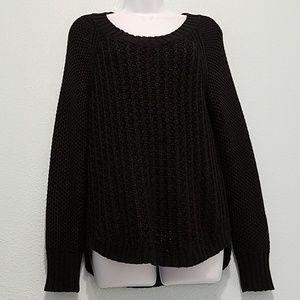 Calvin Klein Jeans Size L Cable Knit Sweater Black